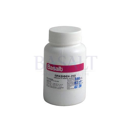 Празифен-250 таблетки №100 (со вкусом говядины) (Базальт)  препарат от глистов для животных