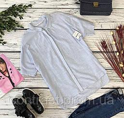 Свободная хлопковая рубашка Zara с легкой ассиметрией  BL4809