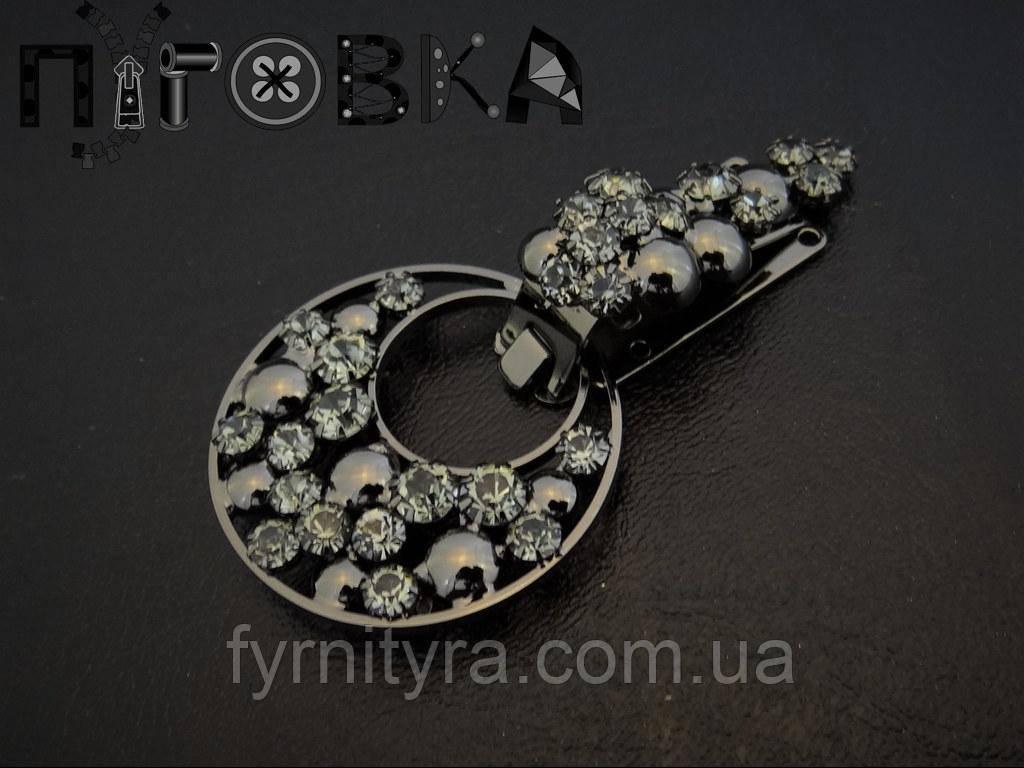 Клипса шубная (шубный крючек) 032, black