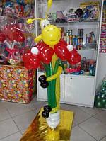 Композиція з кульок радісний жирафка