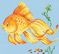 Живопись камнями Золотая рыбка (22х24см)