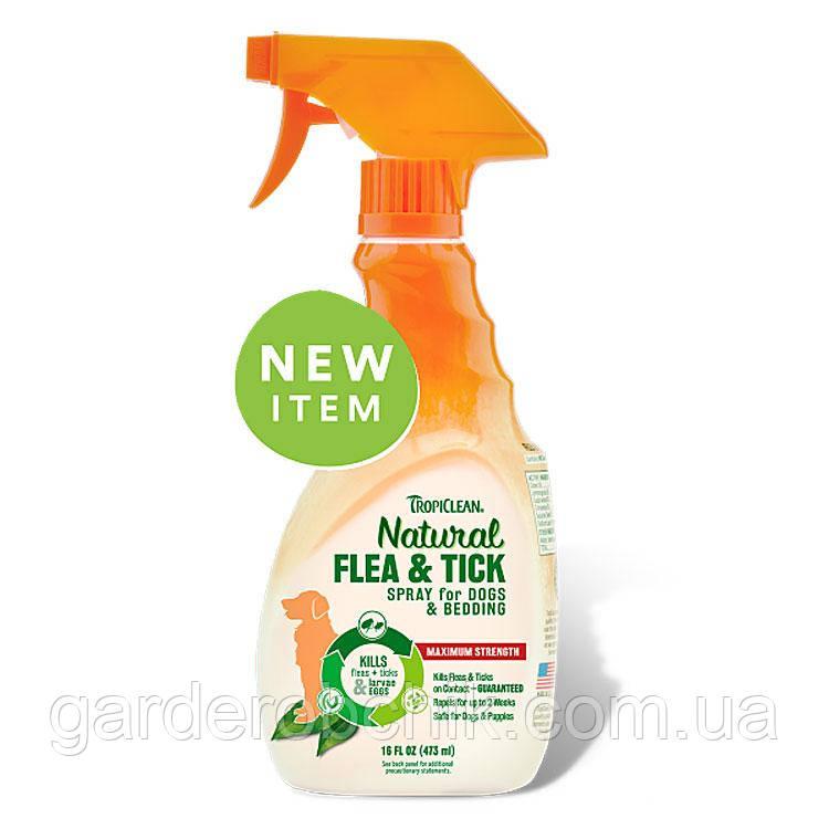 TROPICLEAN Natural Flea & Tick Spray for Pets СПРЕЙ ОТ БЛОХ И КЛЕЩЕЙ ДЛЯ СОБАК И КОШЕК 473 мл