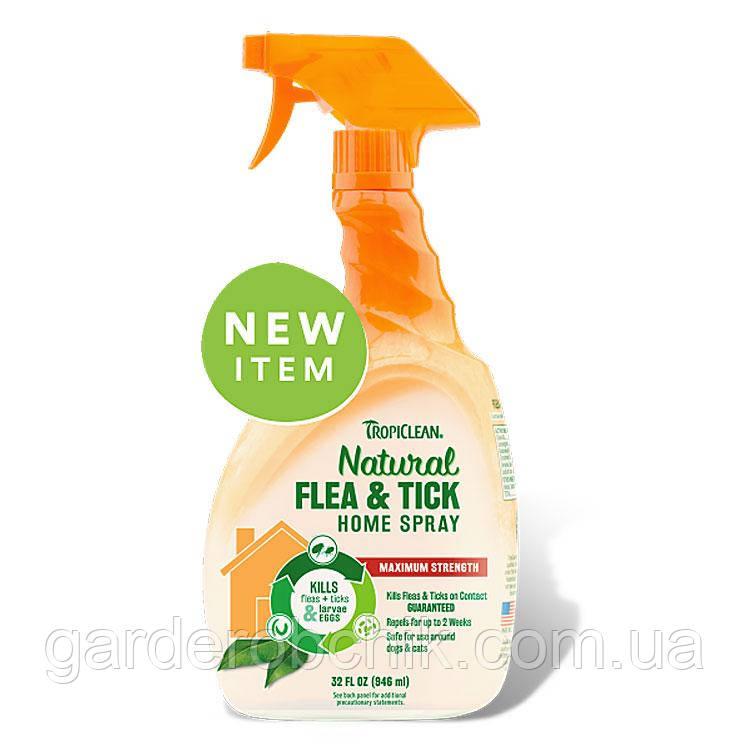TROPICLEAN Natural Flea & Tick Spray for Home СПРЕЙ ОТ БЛОХ И КЛЕЩЕЙ ДЛЯ ОБРАБОТКИ ПОМЕЩЕНИЙ 946 мл