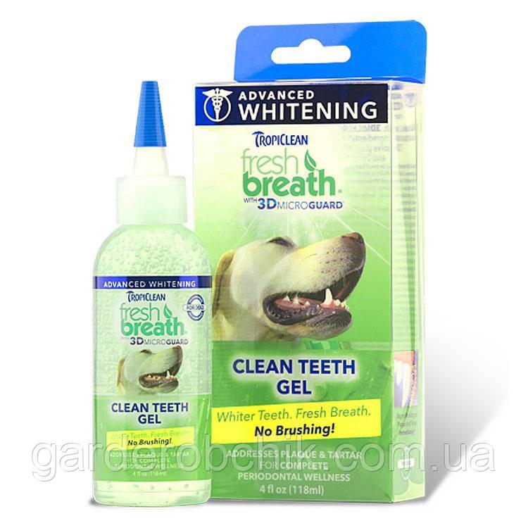 TROPICLEAN Fresh Breath Advanced Whitening Gel «ВІДБІЛЮЮЧИЙ ГЕЛЬ ДЛЯ ЧИЩЕННЯ ЗУБІВ 118 мл