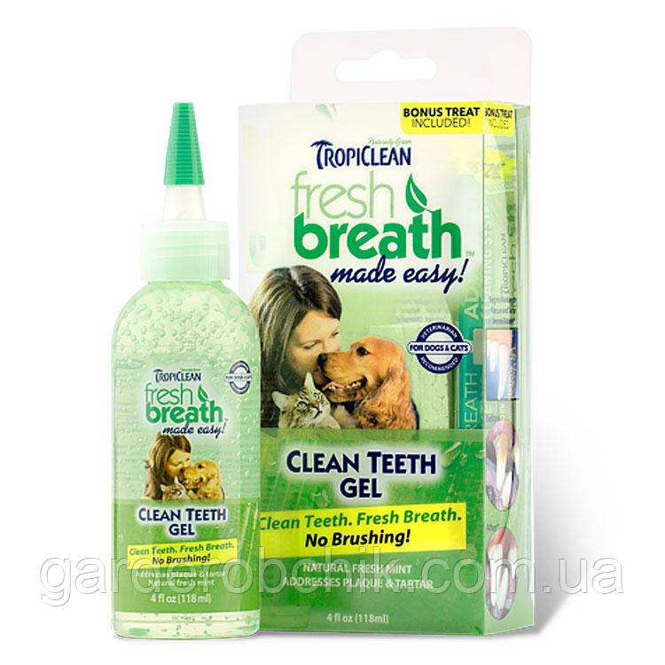 TROPICLEAN Clean Teeth Gel Box ГЕЛЬ ДЛЯ ЧИСТКИ ЗУБОВ 118 мл