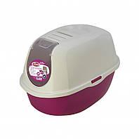 Закрытый туалет PetNova CatLifeEco 54 см розовый