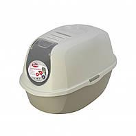 Закрытый туалет PetNova CatLifeEco 54 см серый