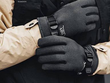 Мужские темно-серые перчатки Staff softshell dark KAR0004