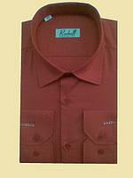 Рубашка красная с длинным рукавом