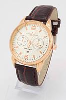 Мужские наручные часы Ulysse Nardin Maxi Marine (золотой корпус, коричневый ремешок)