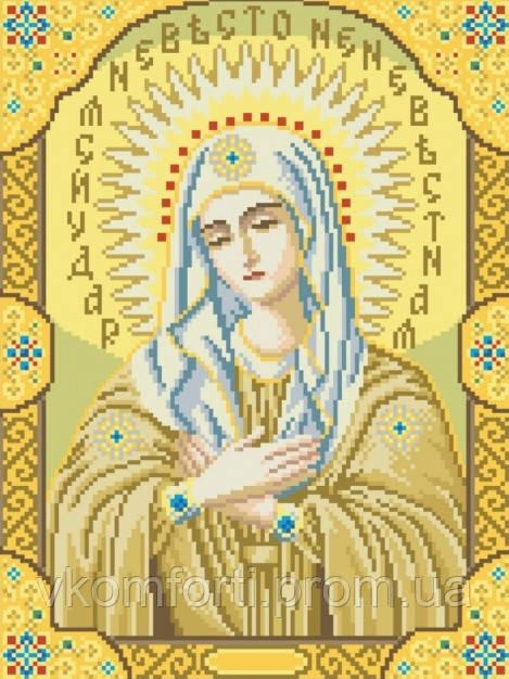 Живопись камнями Икона Божьей Матери Умиление (30х40см)
