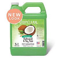 «TROPICLEAN Oatmeal & Tea Tree Dog Shampoo ШАМПУНЬ ЛЕЧЕБНЫЙ «»ОВСЯНЫЙ С ЭКСТРАКТОМ ЧАЙНОГО ДЕРЕВА»» 3,8 л»