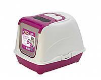 Закрытый туалет PetNova CatLifePlus 50 см розовый