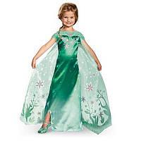 Карнавальное зеленое платье Эльзы, Frozen