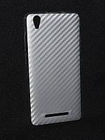 Чехол силиконовый Aelion I5,карбон серебро