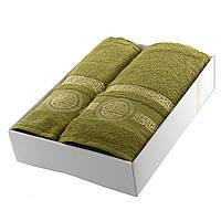 Подарочный набор полотенец хлопок Turkiz зеленый