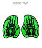 Силовые лопатки для плавания Arena Vortex Evo (Acid Lime)