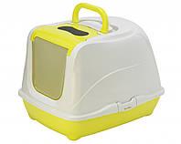 Закрытый туалет PetNova CatLifePlus 50 см желтый