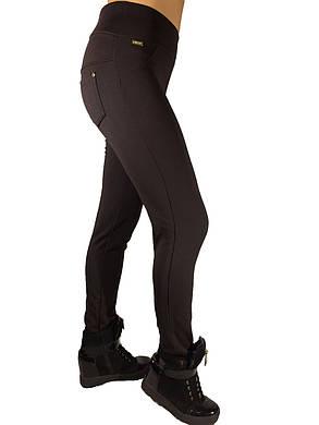 Брючные лосины  НОРМА с начесом № 137 темно-коричневые, фото 2