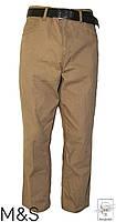 Брюки M&S Оригинал р. 54 XL бежевые коричневые прямые мужские весенние демисезонные