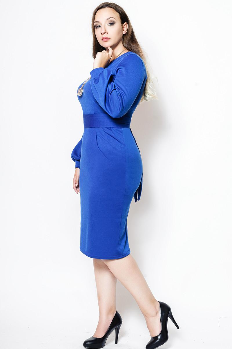 """Женское платье """"DIOR"""" электрик"""