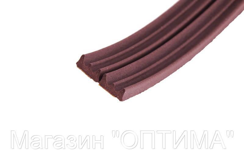 Уплотнитель самоклеющийся Е-тип, 150 / 1м, коричневый, 9х4 мм.