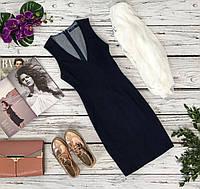 Лаконичное джинсовое платье-сарафан Polo Ralph Lauren c глубоким вырезом  DR48122