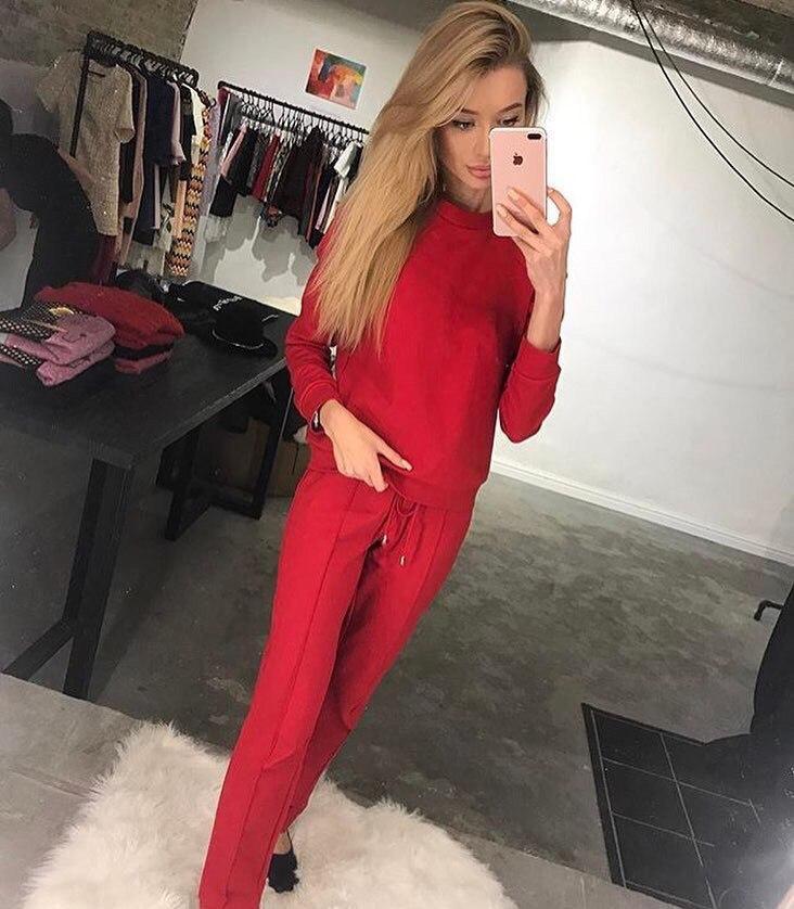 239f24be77ef Модный женский спортивный костюм красного цвета - Интернет-магазин одежды и  обуви от производителя