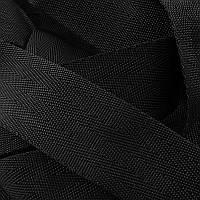 Лента ременная Ёлка 38мм (50м) чёрная.