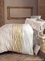 Комплект постельного белья Двуспальный Евро Сатин 200х220 CLASY Mirace светлый