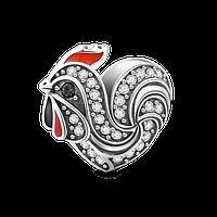 """""""Симпатичный Петушок"""" подвеска-шарм на браслет серебро 925 Soufeel"""