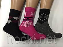 Шкарпетки жіночі ангора всередині махра Троянда
