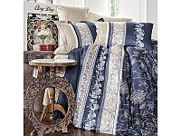 Комплект постельного белья Двуспальный Евро Сатин 200х220 CLASY Sian синий