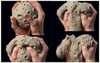 Кинетический песок. 2 цвета. 500 грамм  (собачка)