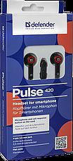 Гарнитура для смартфонов Defender Pulse 420 черный + красный, фото 3