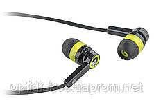 Гарнитура для смартфонов Defender Pulse 420 черный + желтый, фото 2