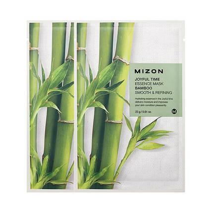Тканевая маска с экстрактом бамбука Mizon Joyful time essence mask bamboo , фото 2