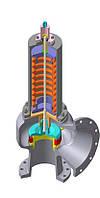 Клапан предохранительный пружинный 17с16нж3 СППК5 100-63-01