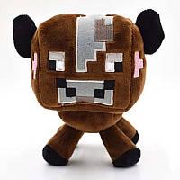 Мягкая игрушка Коричневая корова из Майнкрафт minecraft