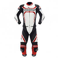 "Комбинезон Alpinestars MOTEGI 2PC white/red/black кожа ""48"", арт. 3161012 213, арт. 3161012 213"
