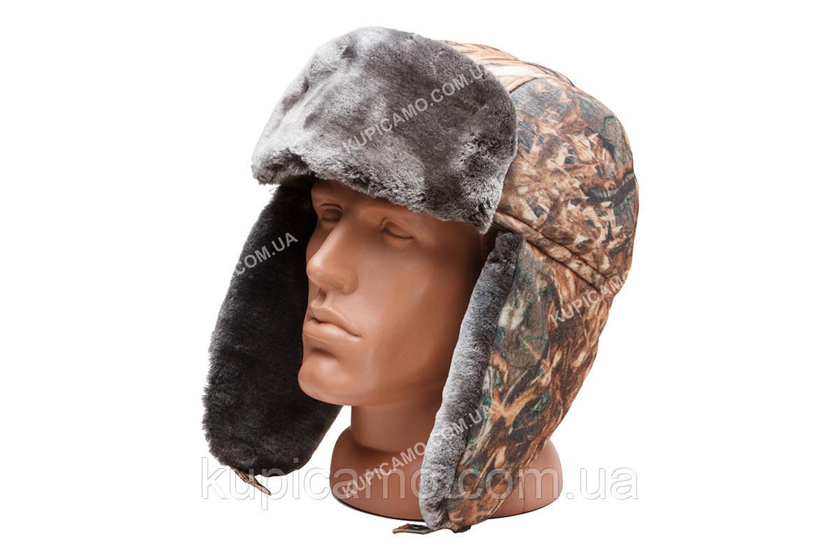 Шапка - ушанка зимняя для рыбаков и охотников