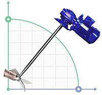 Промышленный низкооборотный  миксер, мешалка AGR-V, 1,1 кВт