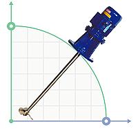 Промышленный высокоскоростной миксер, мешалкаAGV, 0,37kW, 3ph, PP