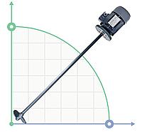 Промышленный высокоскоростной миксер, мешалкаAF 1-7-4, 70 см, 0,18 кВт, 230/400В - 50Гц