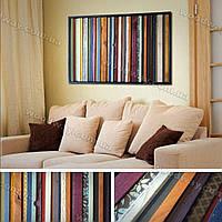 Цветное, текстурное, деревянное панно для современного интерьера и дизайна дома, офиса