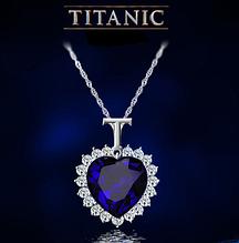 """Подвеска """"Сердце Океана"""" из фильма Титаник с кристаллами Swarovski (Сваровски) wp-119"""
