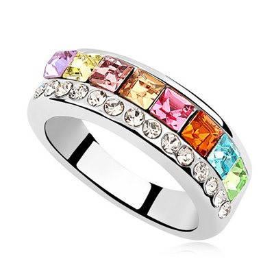 Кольцо с кристаллами Сваровски rs-18  , фото 2