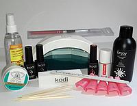 Набор для наращивания ногтей и гель лака с лампой SUNone UV+LED 48W Бесплатная доставка