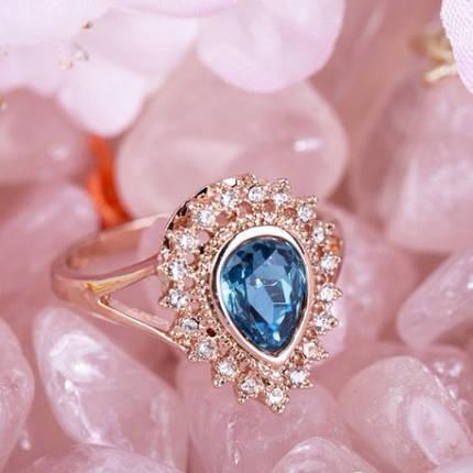 Кольцо с кристаллами Сваровски rs-25  , фото 2