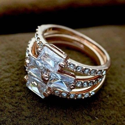Кольцо с кристаллами Сваровски rs-43  , фото 2
